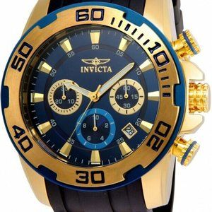 Invicta Men's 22341 'Pro Diver' Black Gold Watch